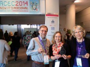Peter, Jane & Romina with awards